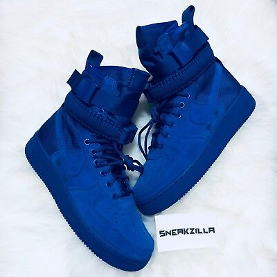 buy popular ba226 74717 NIKE AIR FORCE 1 One High SF Special Field BLUE SUEDE Game Royal 864024-401  AF1