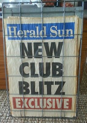 Herald Sun Newspaper Stand With 8 2008 May/june Headlines Mancave Or Bar Must C
