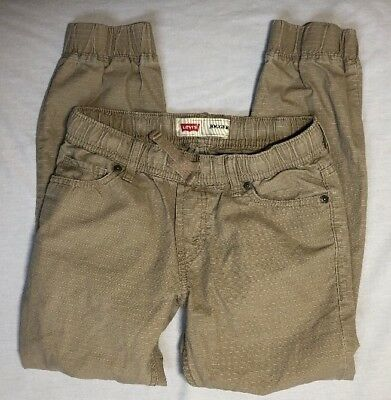 Levi's Slim Leg Regular Fit Khaki Jogger Pants Youth Boys 5 Pocket Sz S 8/10year