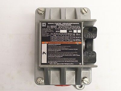 Square D SQD 2510FR1 2510 FR1 Exlposion Proof Manual Starter NNB FREE SHIPPING !