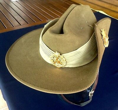 Australian Army Slouch Hat - Perfect Condition, Complete, Size 54 (small)