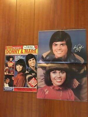 # 1 Donny and Marie Osmond Magazine w/ Centerfold-Tons of Pin Ups + CENTERFOLD!