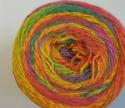 Panda Crypto 8 Ply #3 Gypsie Orange Green Gold Mix 150g Acrylic
