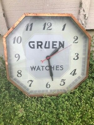 Antique Vintage Gruen Watch Clock