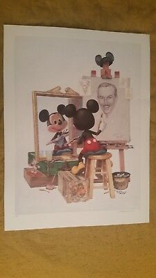 """SELF PORTRAIT - MICKEY MOUSE"" Poster CHARLES BOYER 24 1/2"" X 33"""