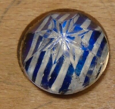 "NICE 5/8"" Paper Back Faceted  Metal Antique Button 678:25"