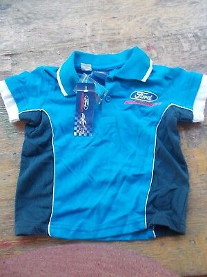 Ford Racing polo shirt size 1 licenced blue, white, navy