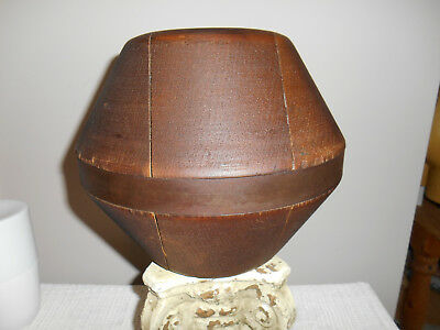 RARE Antique French? Wood Hat Mold Form Block Millinery Marked w/ 3 sizes