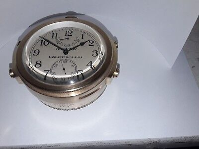 1942 US NAVY Hamilton Lancaster PA 21 Jewel Chronometer Ship Deck Watch