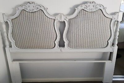 French Provincial Vintage Bed Head Shabby Chic Headboard Bedhead Queen or Double