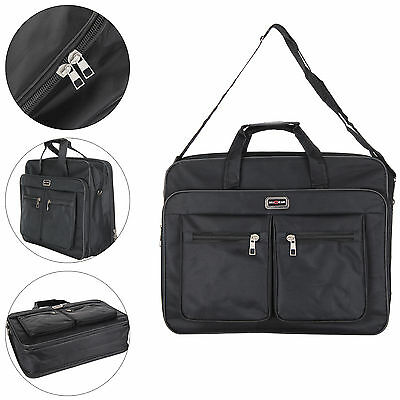 Black Computer Bag Fits up to 15 Inch Business lightweight Laptop with backstrap