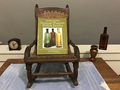 """Early Bottles Guide~""""ANTIQUE WESTERN BITTERS BOTTLES"""" by J.Wichman~Color Plates!"""