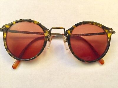 Vintage Oliver Peoples 80s Round Great Gatsby Sunglasses