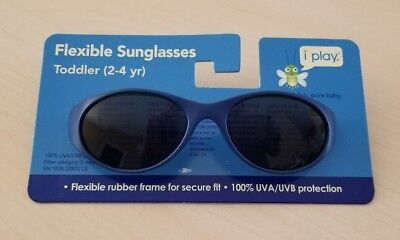 i play Kids Flexible Blue Sunglasses For Toddlers Boys - 100% UVA/UVB Protection