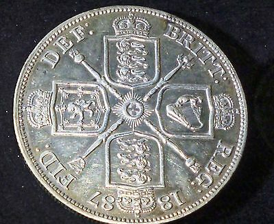 1883 GOTHIC Great Britain Florin KM# 746.4