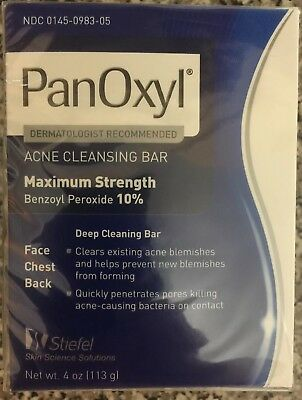 Panoxyl acne cleansing bar 4 oz NEW EXP JL 2017 selling as collectable