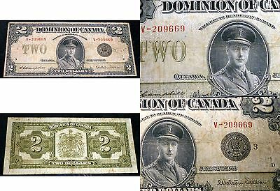 Dominion of Canada 1923 $2 ,Campbell - Sellar ,Group 3 ,  DC-26j