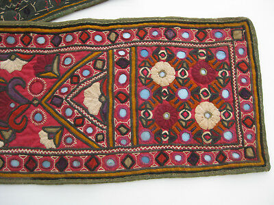 Antique Hand-Made Table Runner Or Wall Hanging With Mirror Work Made In Pakistan