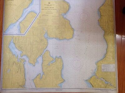 1960 Nautical Chart: Puget Sound Apple Cove To Keyport G.S. 6445 25K Scale