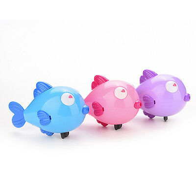 Wind-Up Clockwork Bath Toys Animals Kiss Fish Baby Shower Swimming Kids Pink New