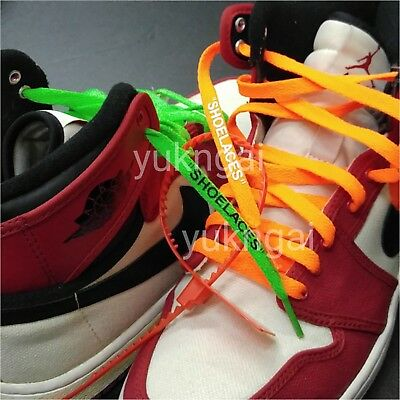 """new concept abf04 a6b02 """"SHOELACES"""" FLAT LACES Zip Tie For Replacement Off-White"""