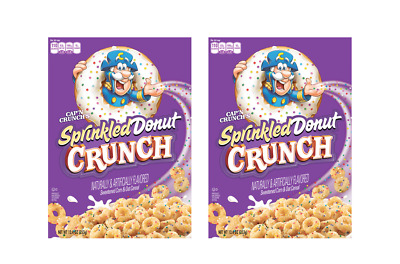 912956 2 x 353g BOXES OF CAP'N CRUNCH'S SPRINKLED DONUT CRUNCH CORN & OAT CEREAL