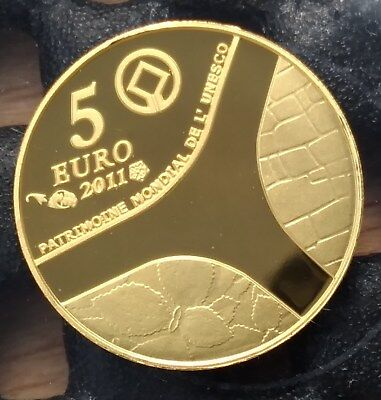 2011 France Legal tender 5 euro The palace of Versaille 0.5 gram .999 gold coin