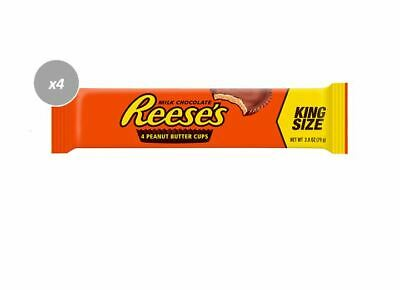 900690 6 x 79g PACKETS OF REESE'S KING SIZE MILK CHOCOLATE 4 PEANUT BUTTER CUPS