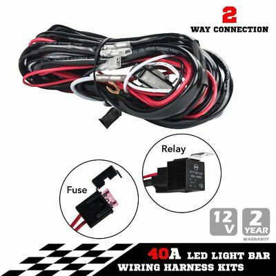 TOYOTA Heavy Duty LED Light Bar Wiring Loom Harness 40A Switch Relay Kit 12V F7