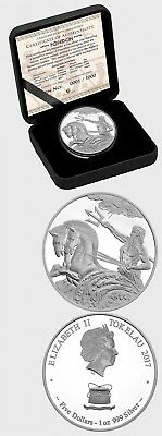 Tokelau- 2017- Poseidon 1oz Proof Silver Tokelau Coin