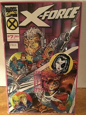 X-Force COLLECTOR'S Buttons SET Of 4 BY MARVEL COMICS Cover Sealed.