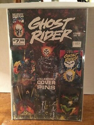 Marvel Comics GHOST RIDER COLLECTOR'S Button SET of 4 sealed.