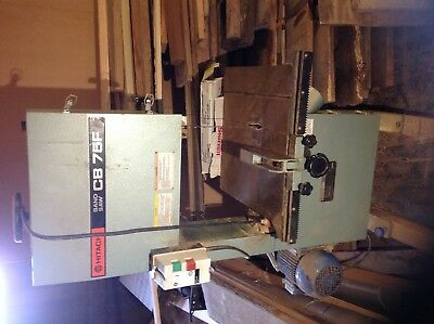 "HITACHI CB75F BANDSAW -RESAW .WIth 3"" BLADE AND 3 new 1"" BLADES BY STARRETT"