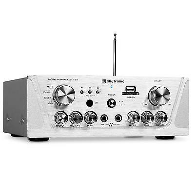 Top Ampli Dj Pa Hifi Home Cinema Skytronic Receiver Radio Stereo Mp3 Usb Sd 400W