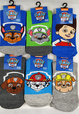 PAW PATROL- 6 Paar Socken im Set, United Labels, Gr. 23/26,  Gr. 31-34