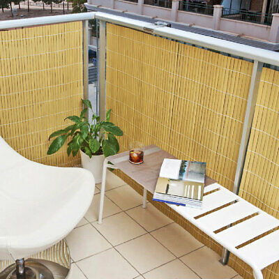 Balcony Screening Privacy Screen Artificial Bamboo Cane 4m x 1m, 1.5m or 2m high