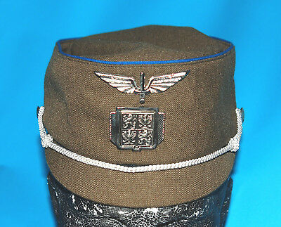 Slovakian Officers Cap With Police Cap Badge - Wing Badge & Chin Strap (B).