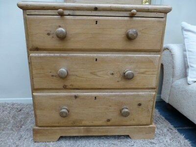 victorian pine chest/desk very cute small piece, possible delivery