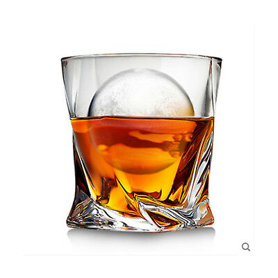 Whiskey Glass Wine Cup Beer Glasses Drinking Crystal Tumblers 2pcs 300ml