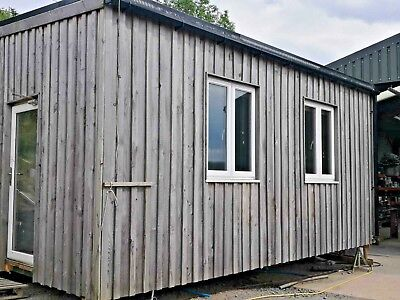 container office, 20ft, PRICE REDUCED wood clad and insulated solid and warm
