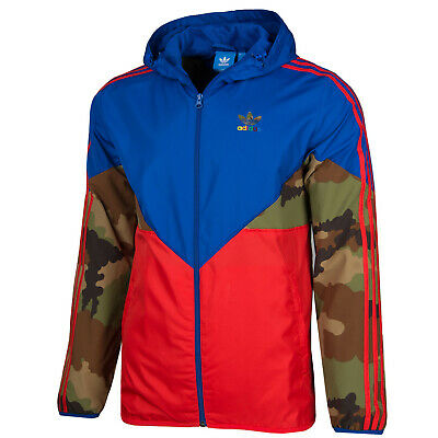 ADIDAS ORIGINALS CAMO Windbreaker hooded lightweight jacket