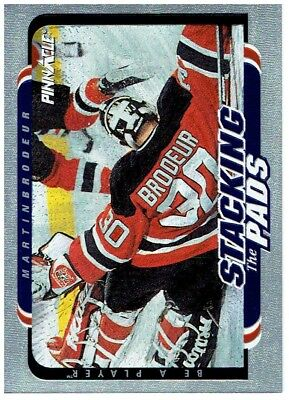 Martin Brodeur 1996-97 Be A Player Stacking the Pads #5 2 Card Lot