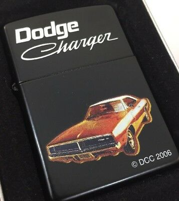 2006 Zippo Lighter Super Graphics of a 1969 Dodge Charger  Mint in the Box