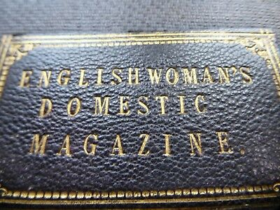 English womans ''domestic magazine '' Antique book with full colour lithographs