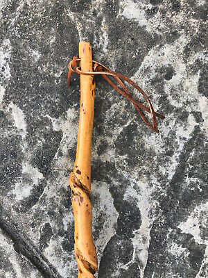 Twisted Root Walking Stick Shillelagh Cane w/ Beautiful Markings & Rubber Tip