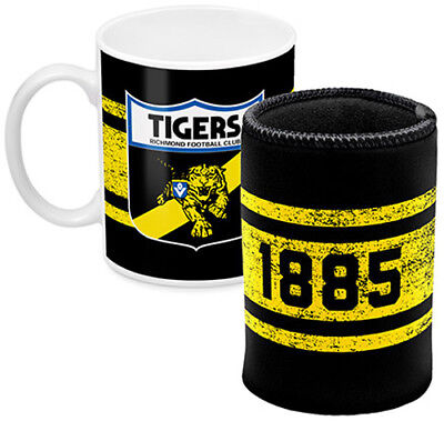 AFL Coffee Mug and Can Cooler Richmond Tigers New // Pre-Order!!