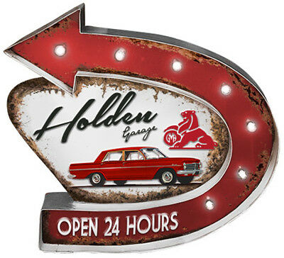 Holden Garage Light Up Tin Sign New // Pre-Order!!