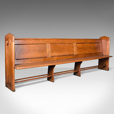 Antique Pew, English, Oak, Church Bench, Pugin-esque Gothic Overtones Circa 1880