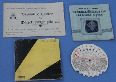 Three Instruction Books for Uncommon EXPOSURE METERS & Johnsons Calculator