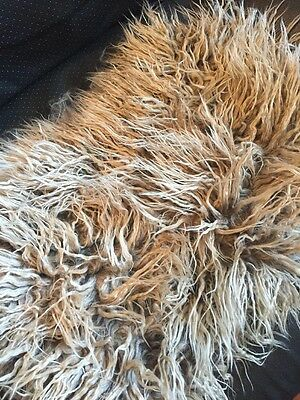 New--Caramel Crunch Mongolian Shag Fur Mat--Newborn Photo Prop-Best Seller
